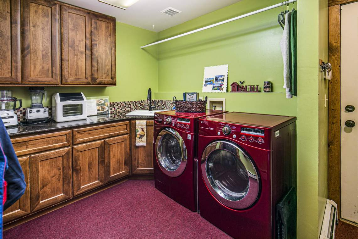 Laundry Room on Main Level Includes Washer and Dryer.