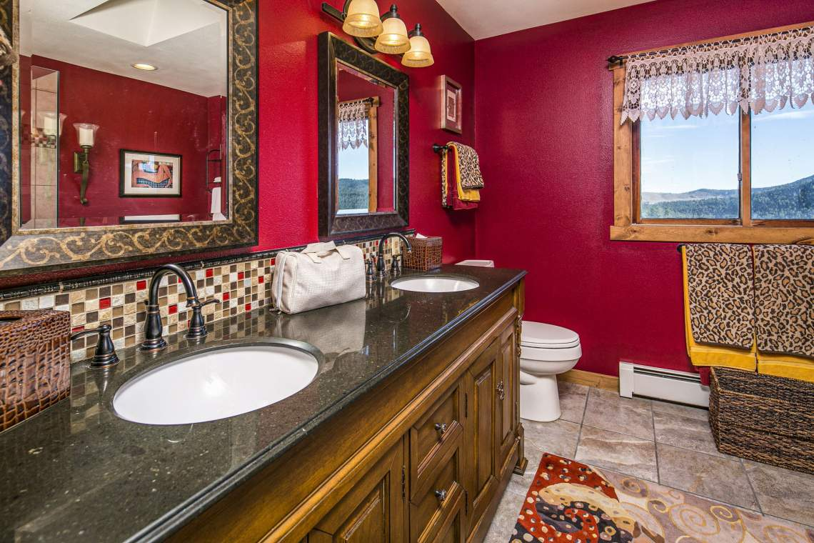 Master Bathroom Includes Dual Sinks and Granite Countertops.