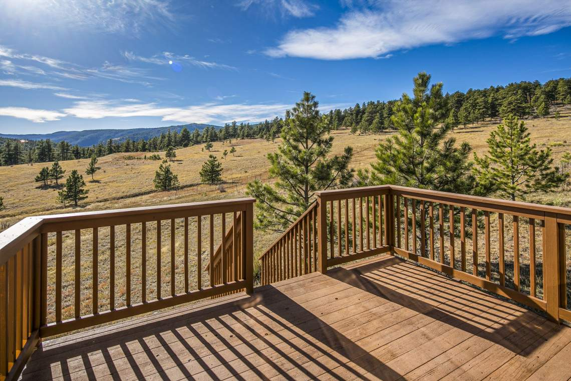 Back Deck with Breathtaking Views.