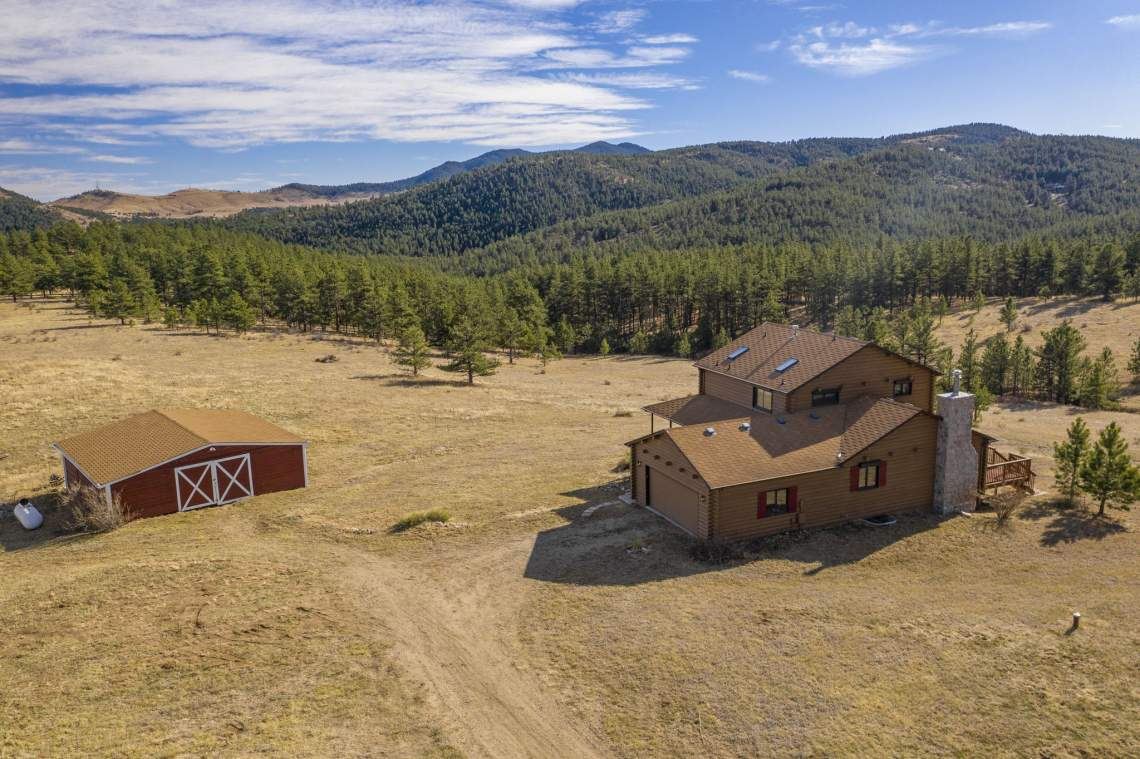 Aerial View - Detached Barn and Plenty of Space to Enjoy!