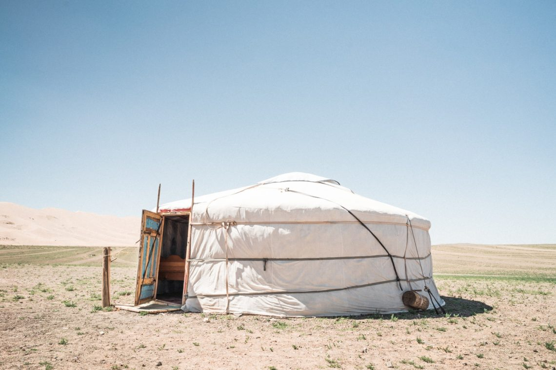 A yurt in the desert