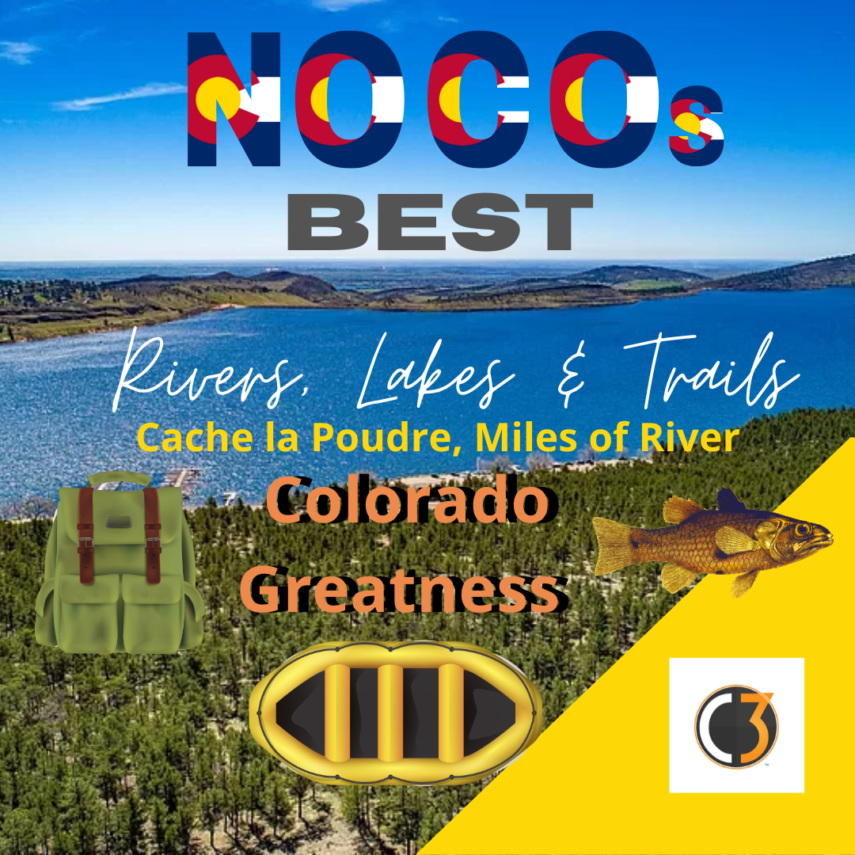 Cache la Poudre is a Popular River and Excellent Place for Camping, Fishing and Housing
