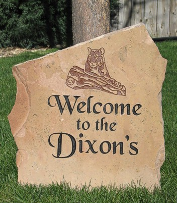 Personalized Engraved Stone for Front Yard
