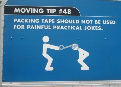 Packing tape and moving
