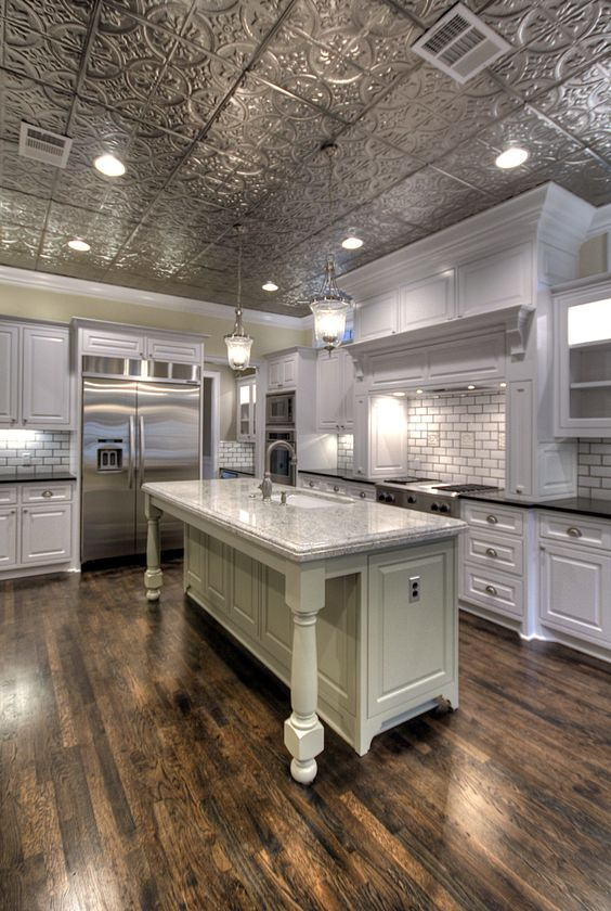 Ceiling Tiles Make Beautiful Accents for the Kitchen