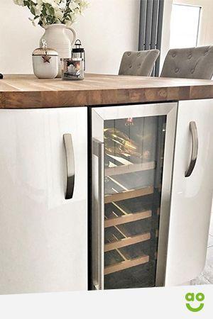 Wine fridge undercounter stainless steel