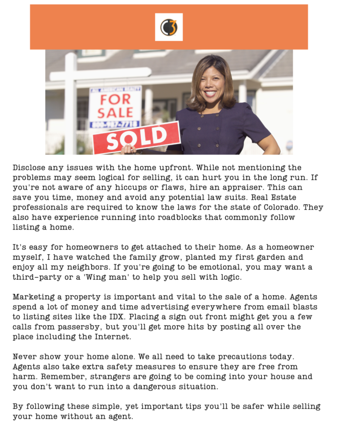 You Can Sell Your Own Home But Take Caution