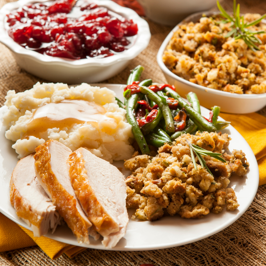 Order Turkey Dinner from Local Restaurants