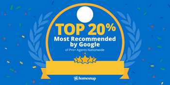 Homesnap Top 20 Percent Most Recommended