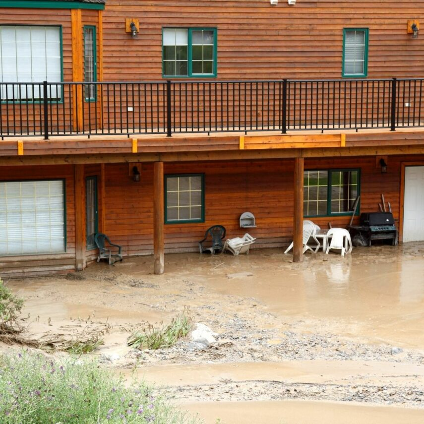 Decks can become unsafe after water damage