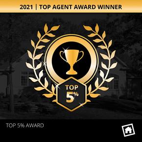 Homesnap Top 5 Percent Award